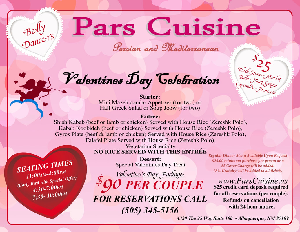 Valentine's Day Celebration at Pars Cuisine