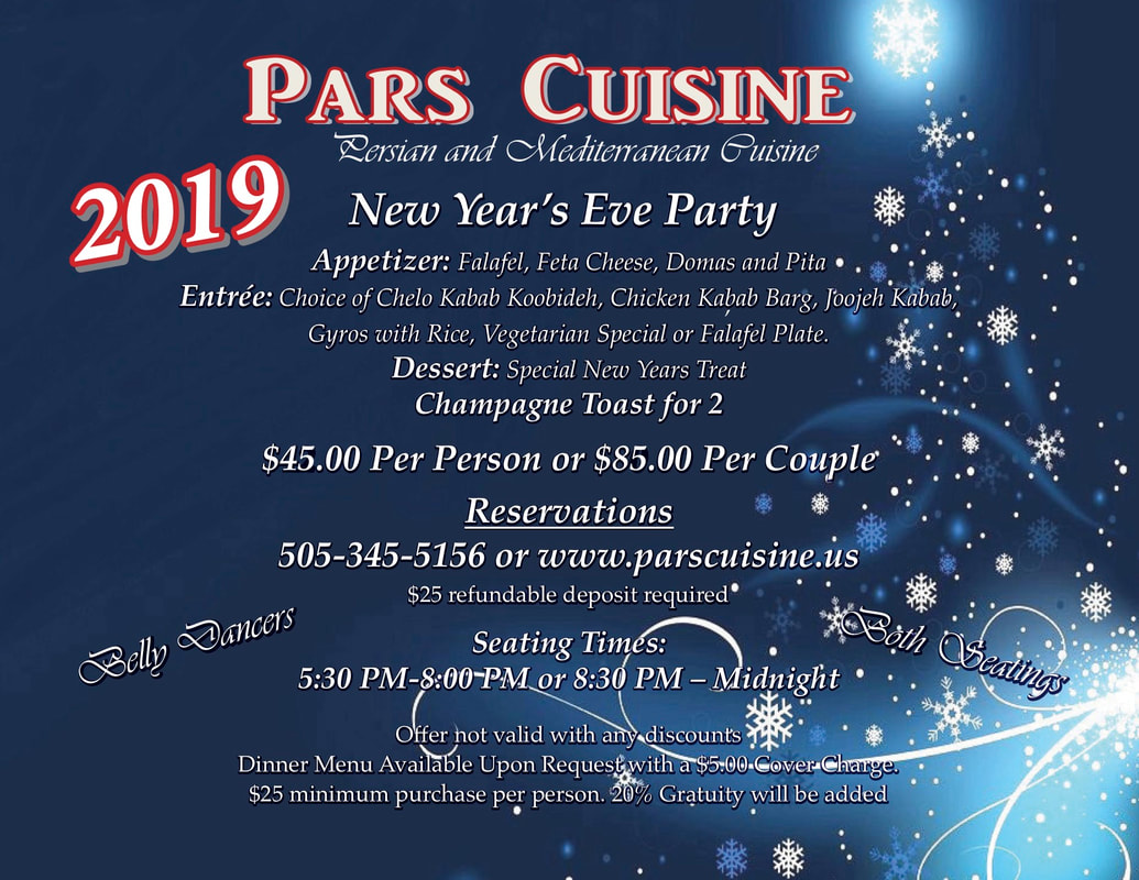 Pars Cuisine New Year's Eve Party